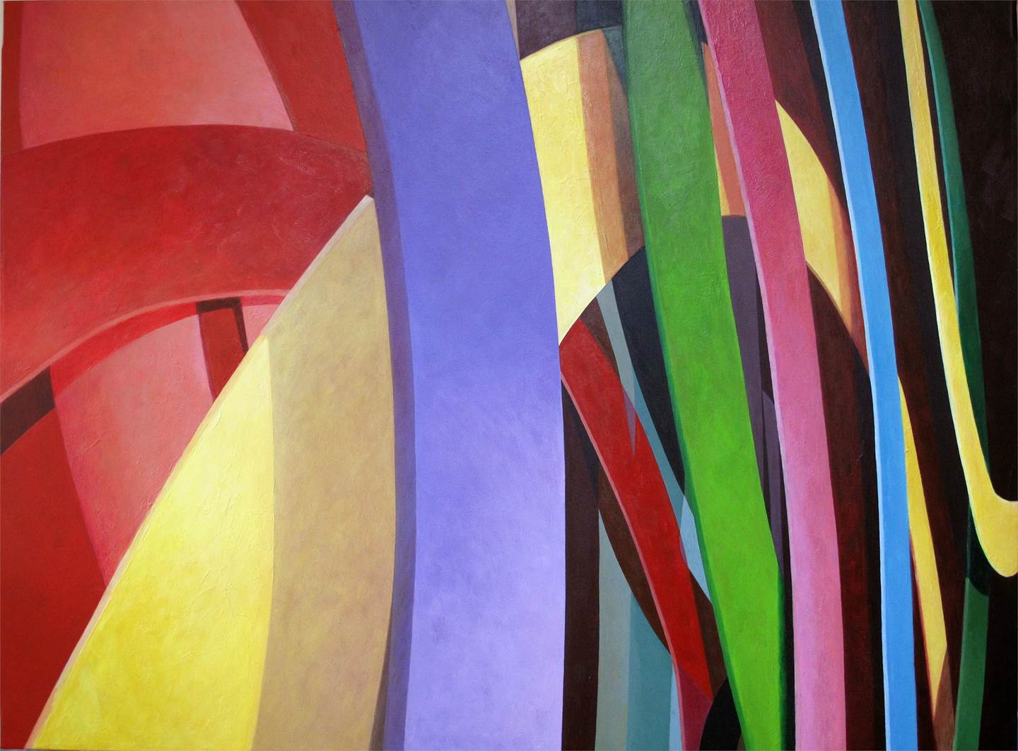 Ábside II, original Geometric Acrylic Painting by Acácio de Carvalho