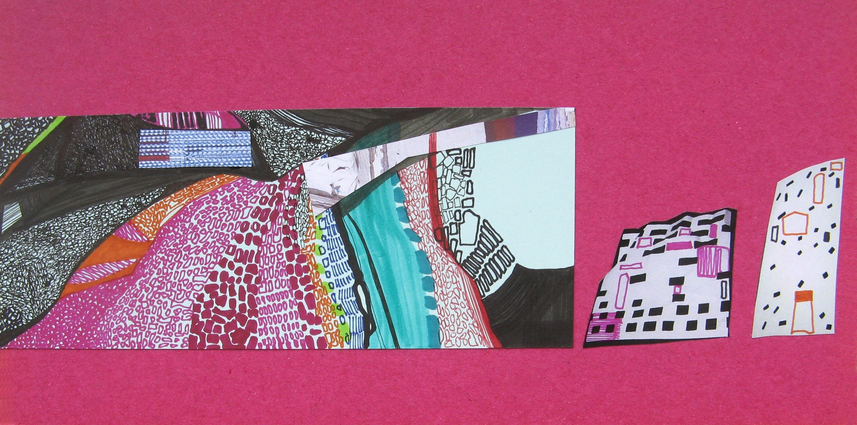 da Série Houses, several corners of the world, #62 de 70, original Collage Drawing and Illustration by Ana Pais Oliveira