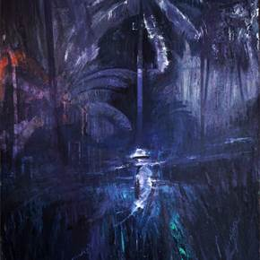 Selva V, original Big Oil Painting by Hélio Luís