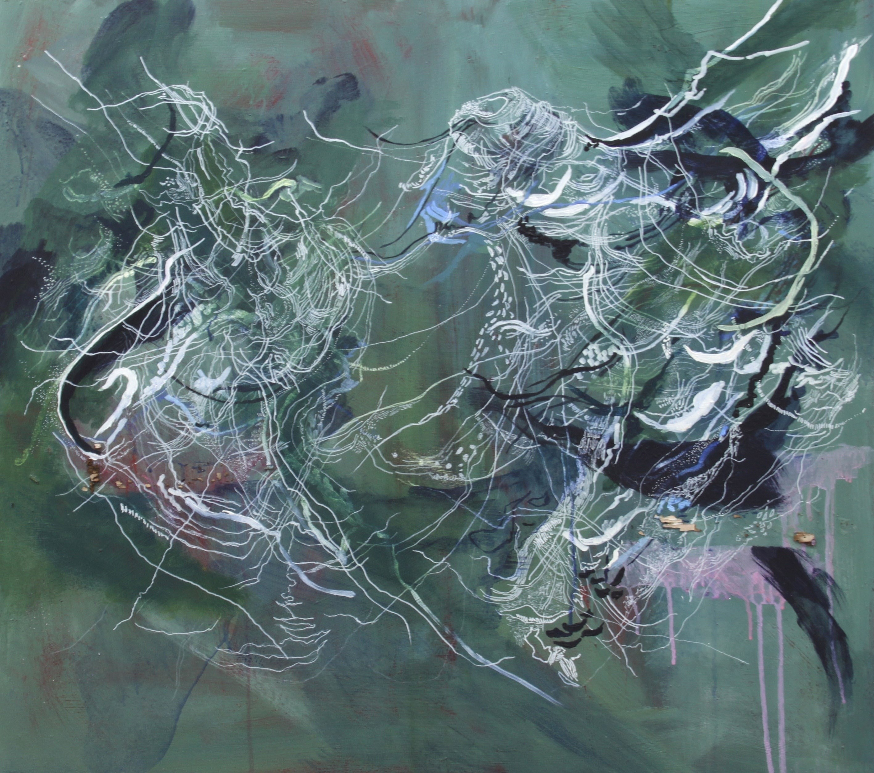 Ethereal Gale , Pintura Acrílico Abstrato original por Liza Mackintosh