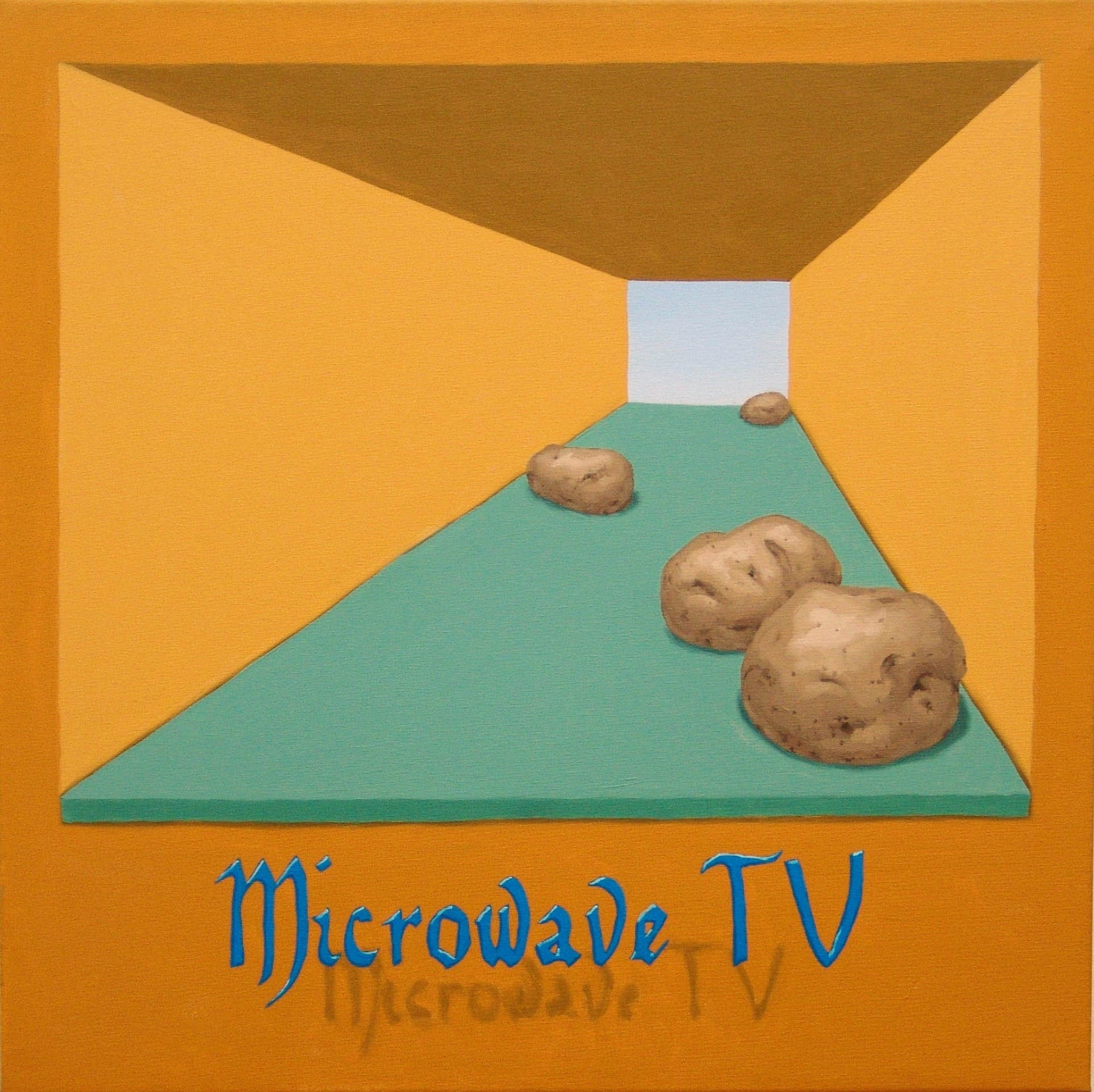 Microwave TV, original  Acrylic Painting by António Olaio