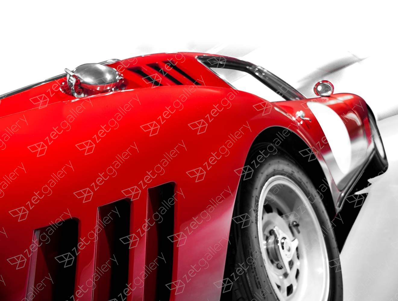 Ferrari GTB Competizione 02, original Avant-Garde Digital Photography by Yggdrasil Art