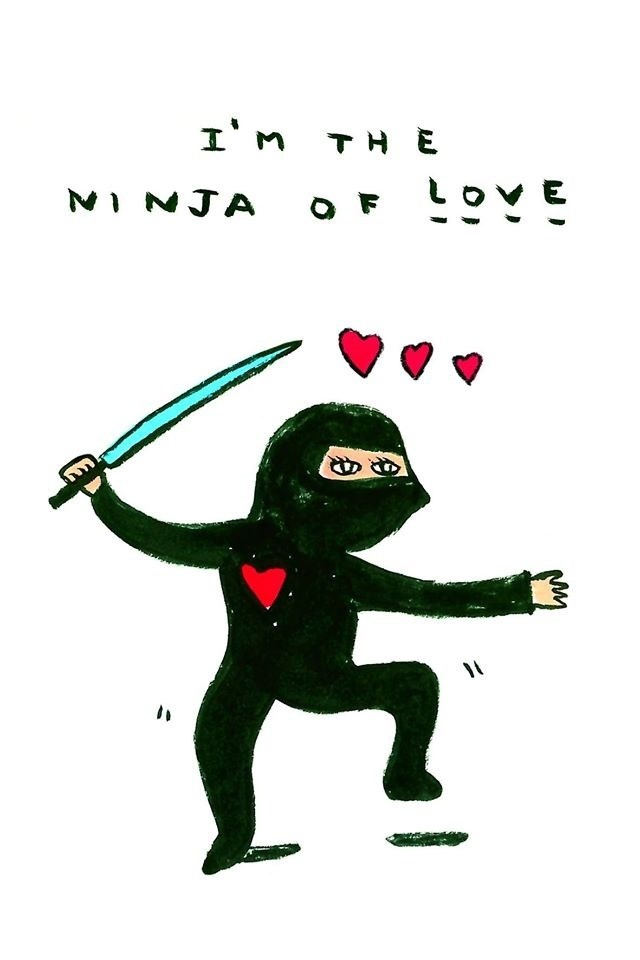 Ninja of Love, Diseño e Ilustración  Digital Cuerpo original por Shut Up  Claudia