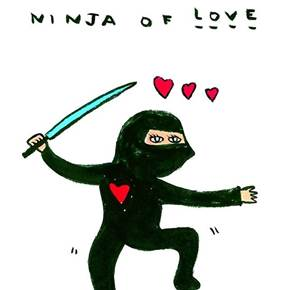 Ninja of Love, original Body Digital Drawing and Illustration by Shut Up  Claudia