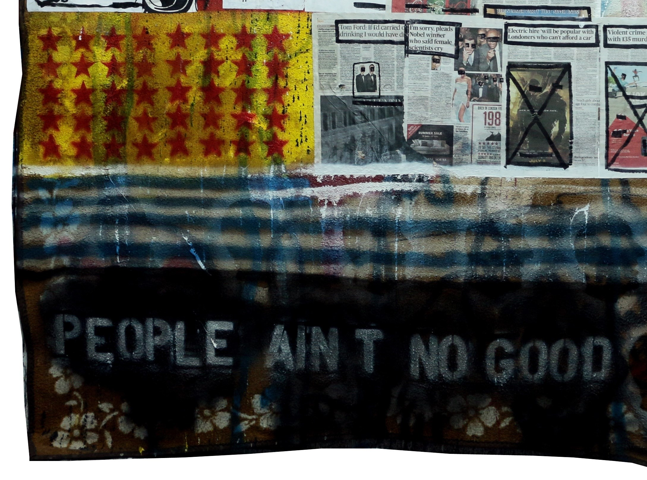People Ain't No Good, original Avant-Garde Acrylic Painting by Paulo Moreira