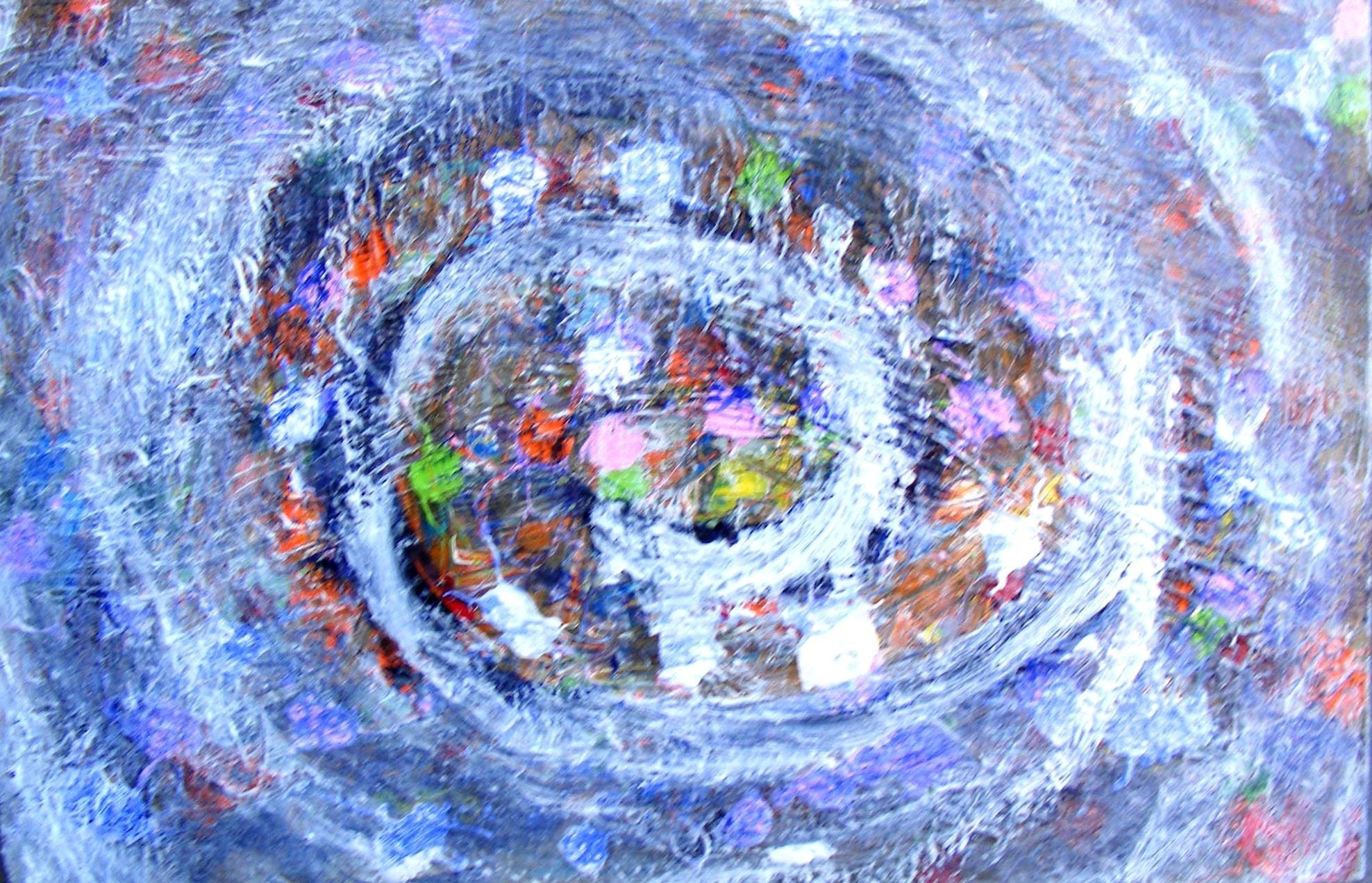 Lugar Comum , original Abstract Acrylic Painting by Celso  Prei
