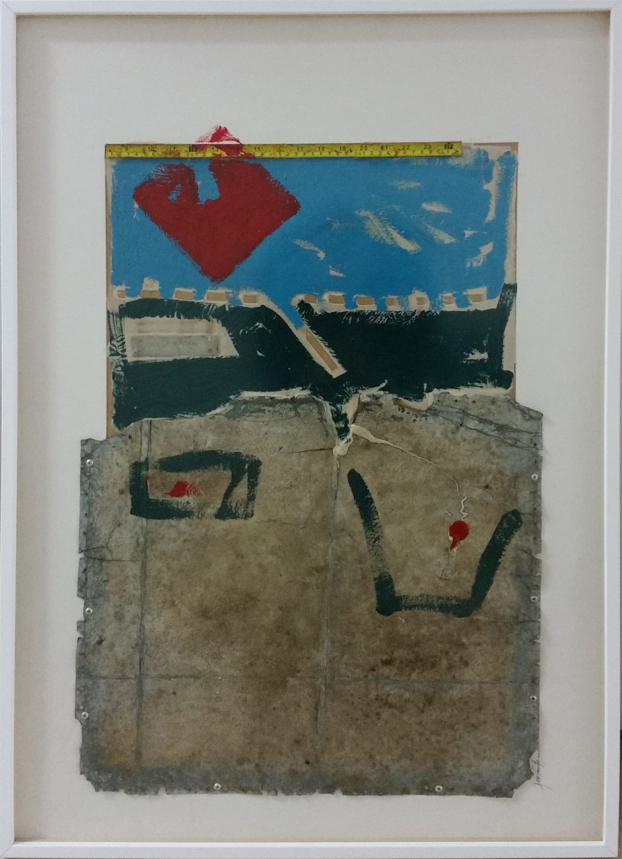 Next to the river #1, original Abstract Paperboard Painting by José Fonte