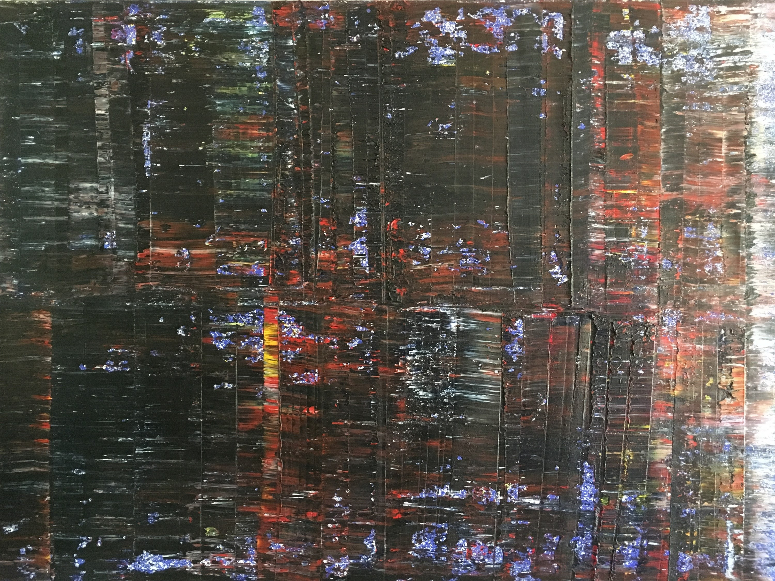 #9 (2014), original Abstract Painting by Pedro Bom
