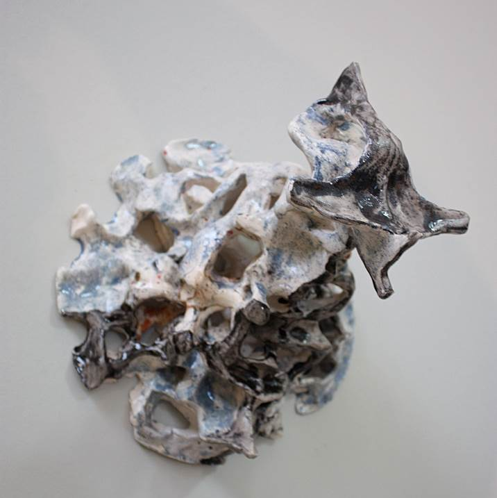 Marinho, original Abstract Ceramic Sculpture by André Silva Neves