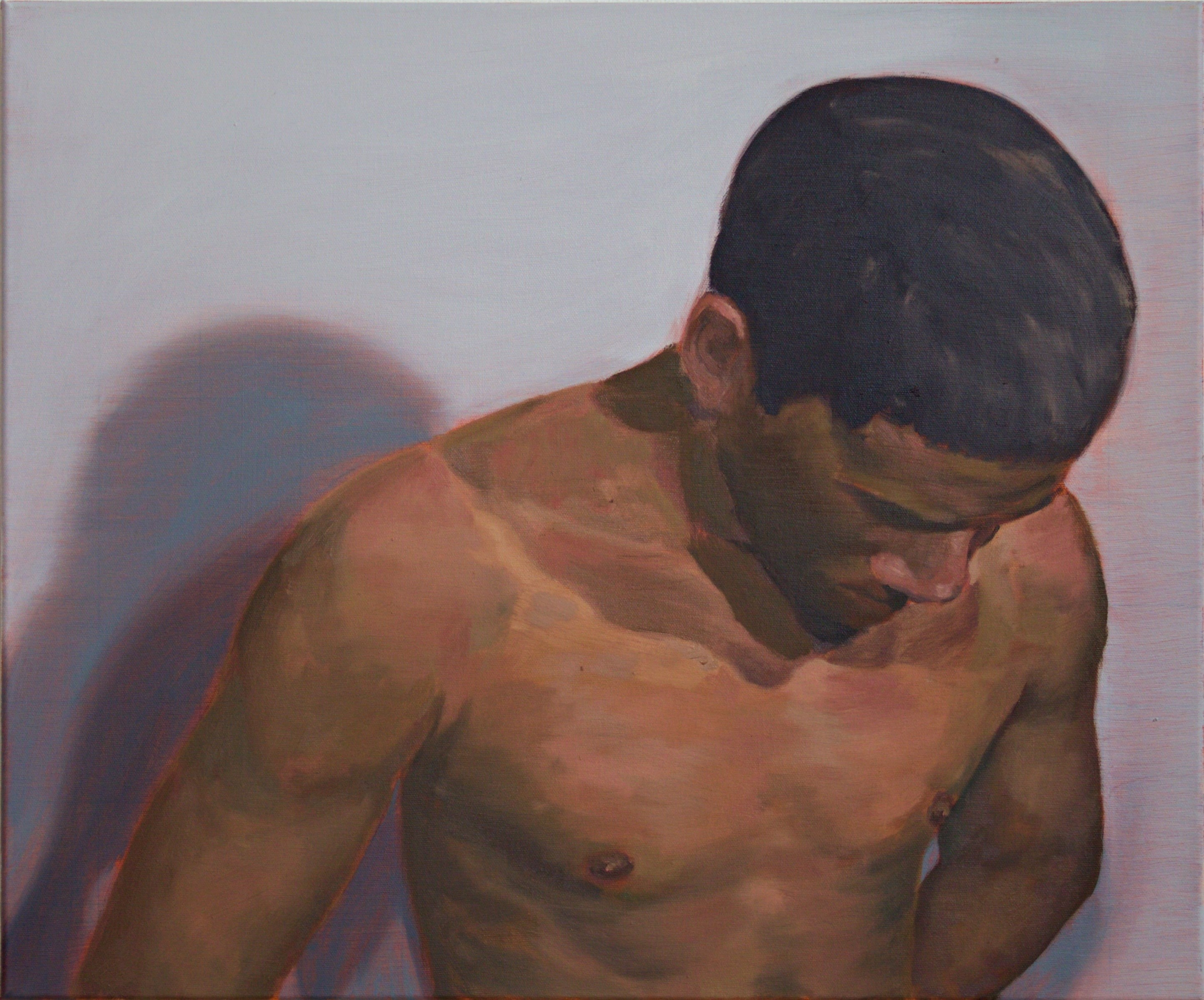 Anónimo I, original Body Canvas Painting by Leonel Cunha