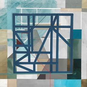 """Non-Structural V"", original Geometric Acrylic Painting by Pedro Besugo"