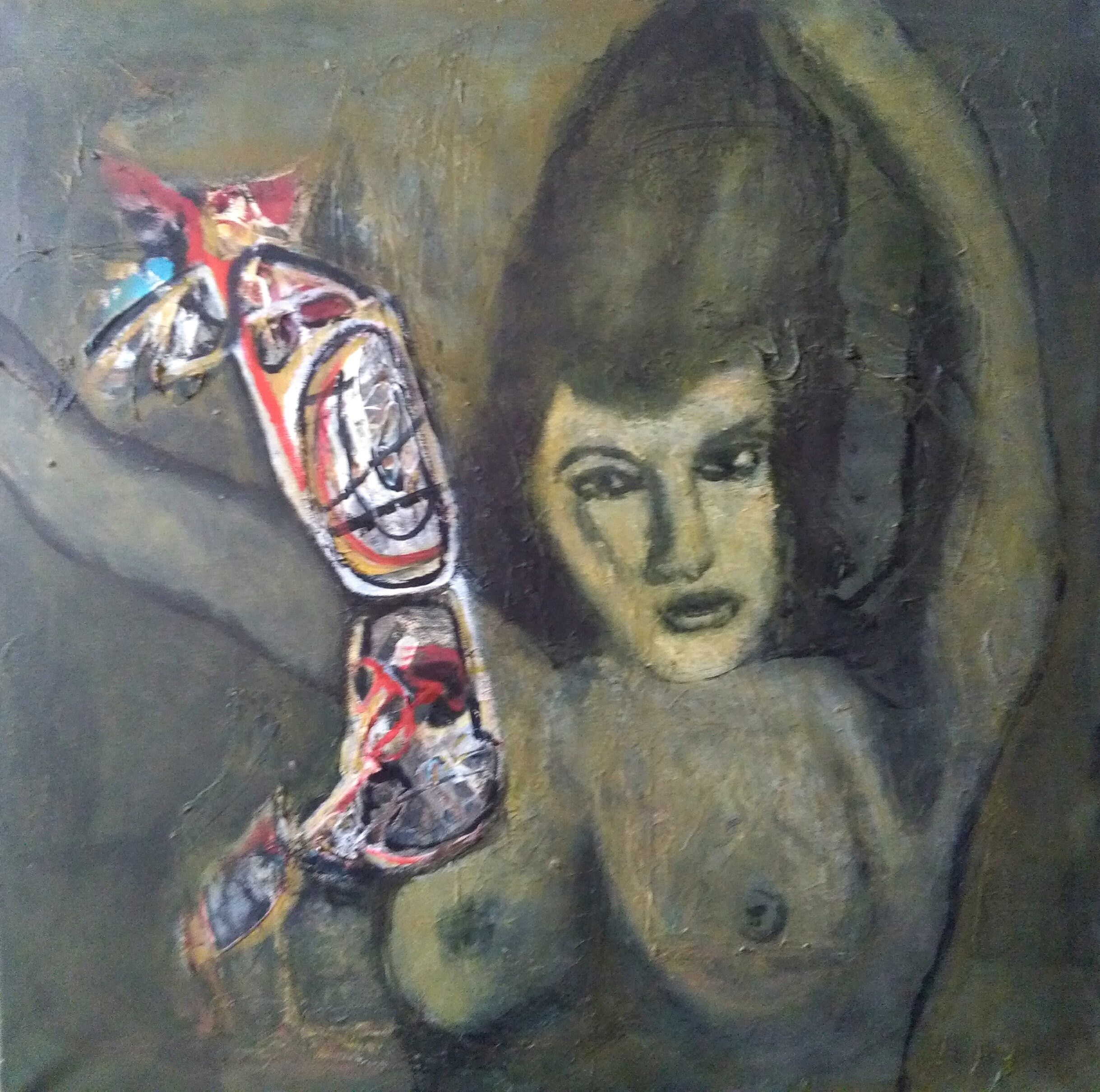 Let's fly away with me, Pintura Técnica Mista Figura Humana original por CARLA GONCALVES