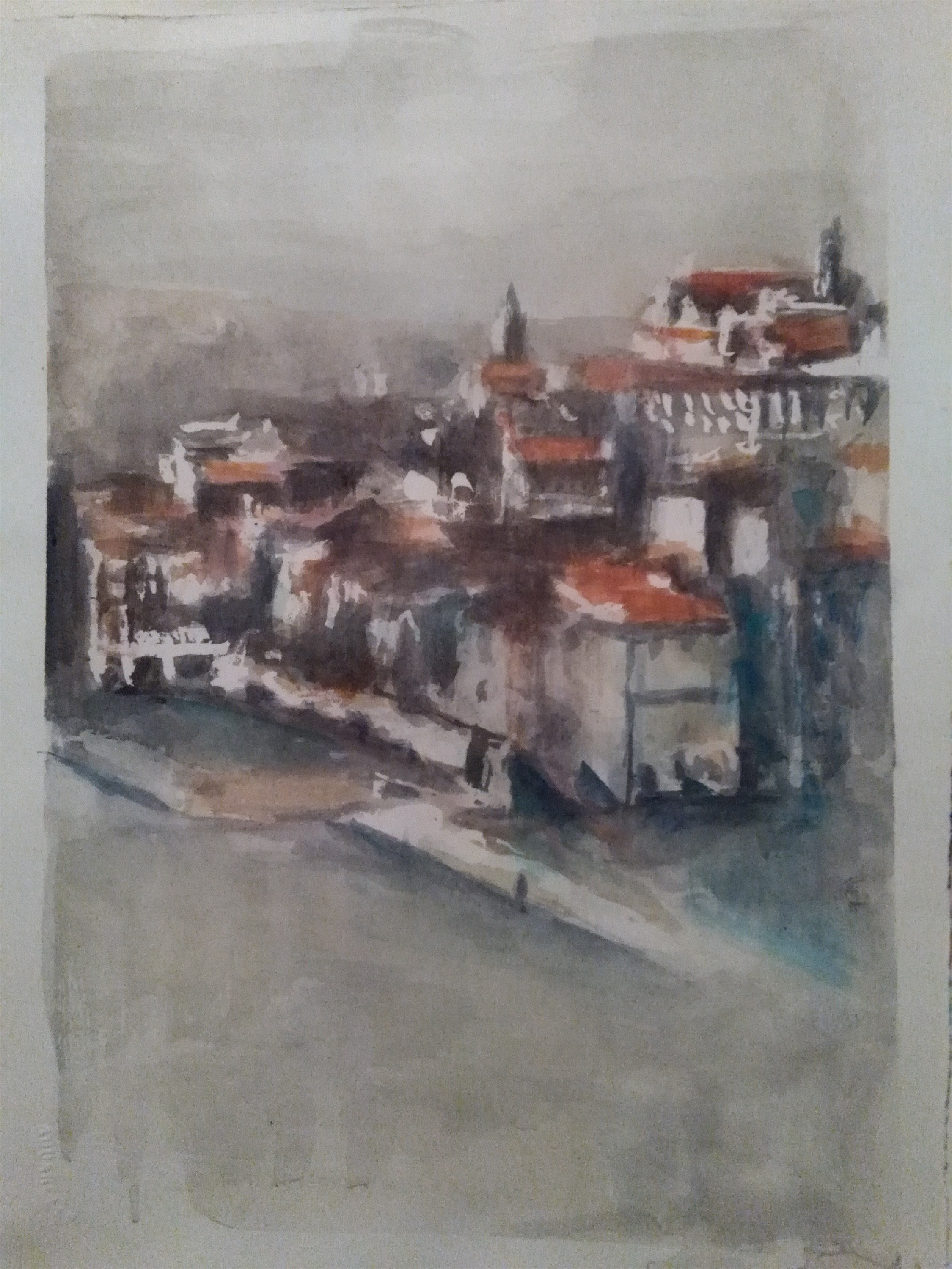 Aguarelas do Porto, original Places Watercolor Painting by CARLA GONCALVES