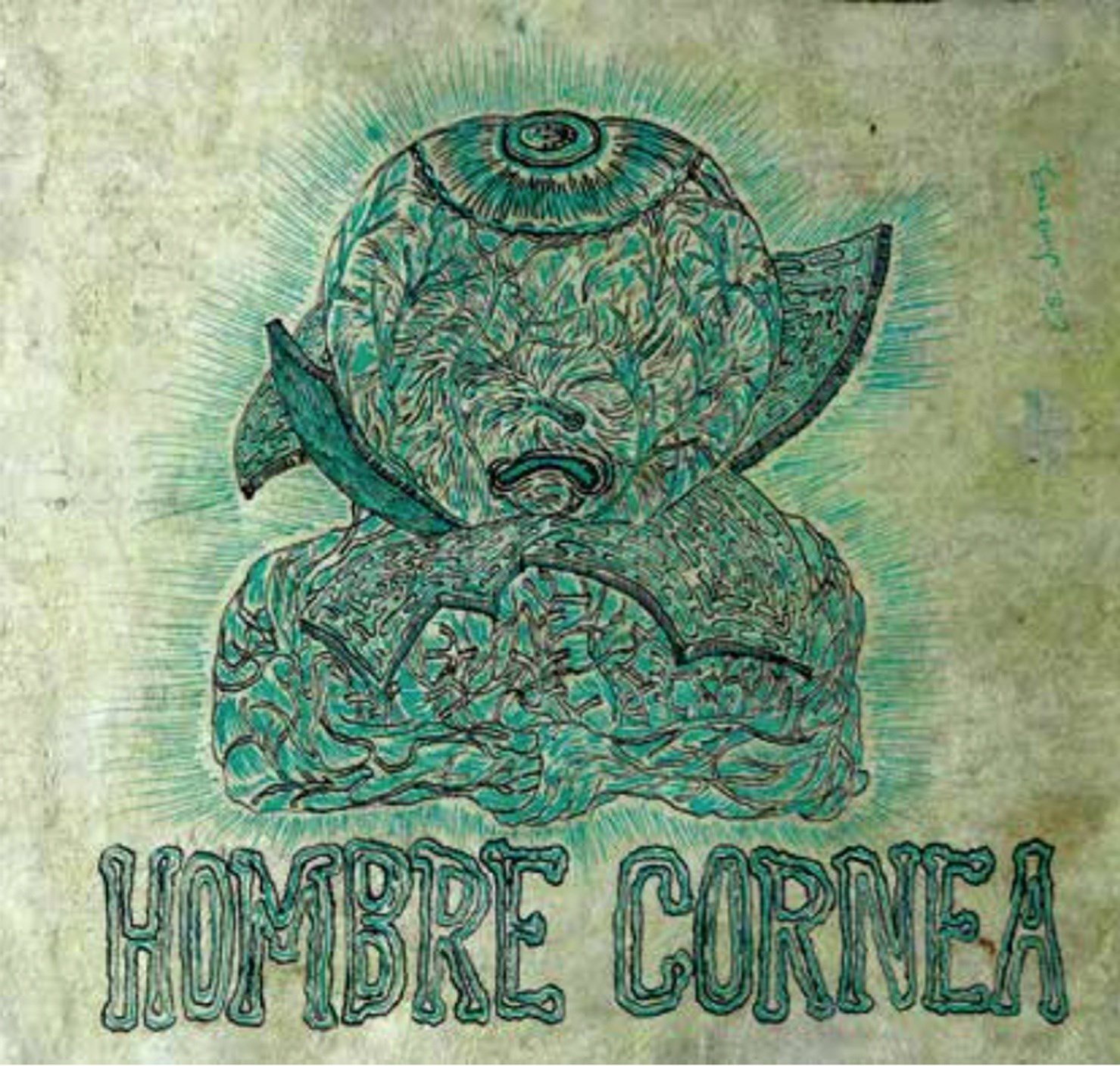 Hombre Córnea, original Abstract Collage Drawing and Illustration by Cisco Jiménez