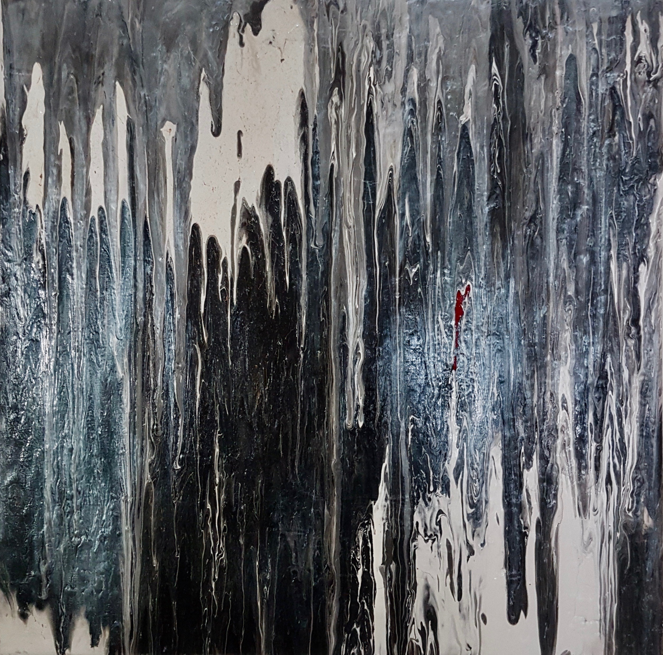 Fluid, original Abstract Acrylic Painting by Art Sauvage
