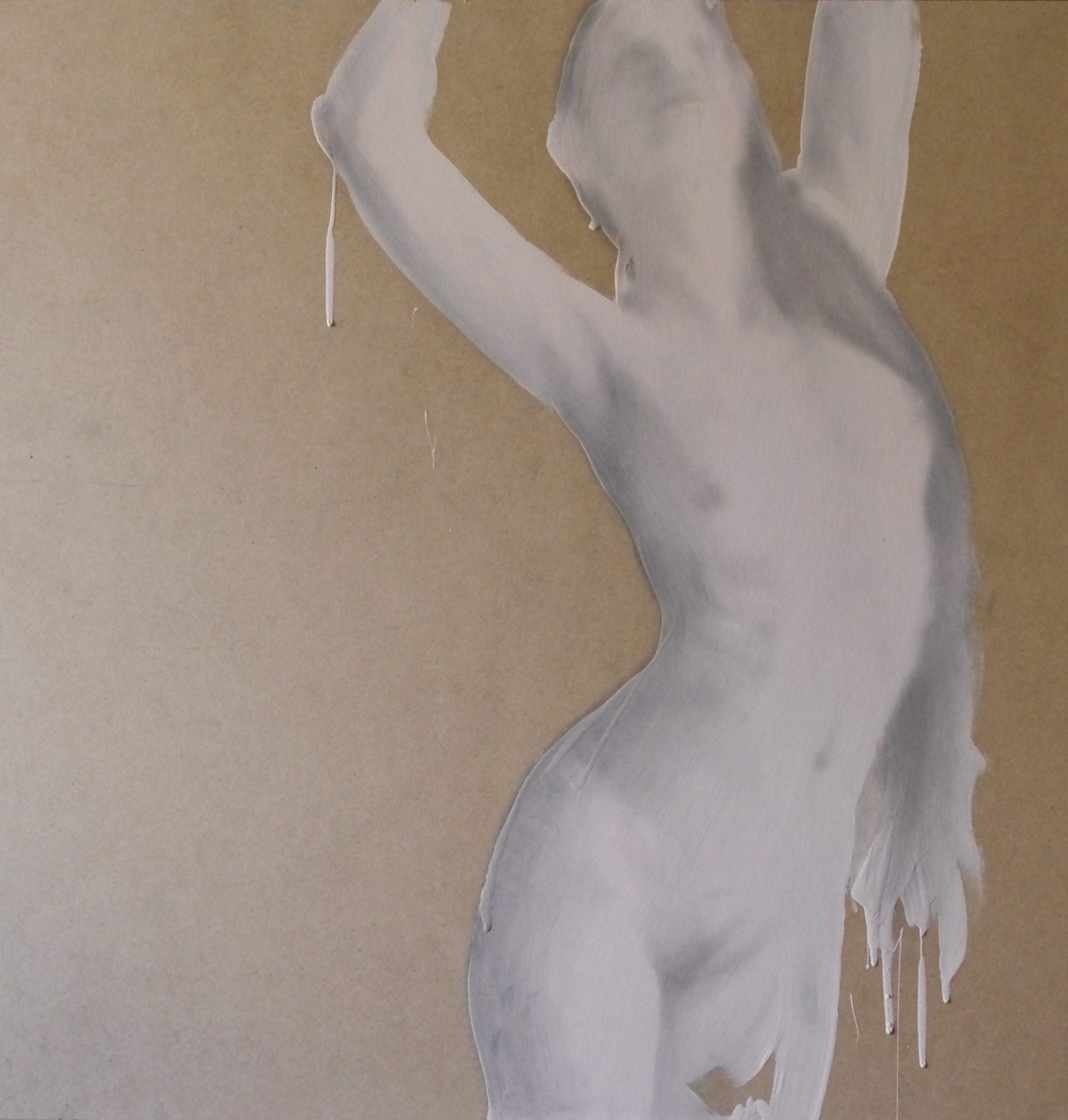 Dancing, original Human Figure Acrylic Painting by BeckenFilipe .