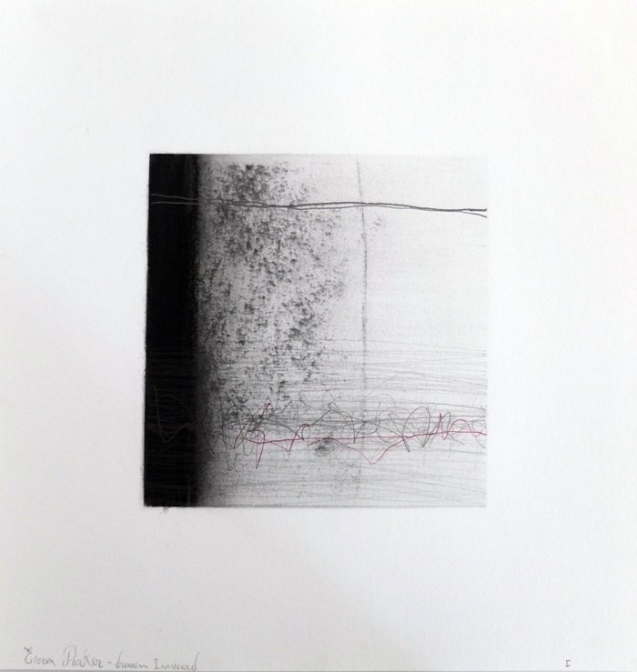 Drawn Inward I, original Abstract Charcoal Drawing and Illustration by Mariana Alves