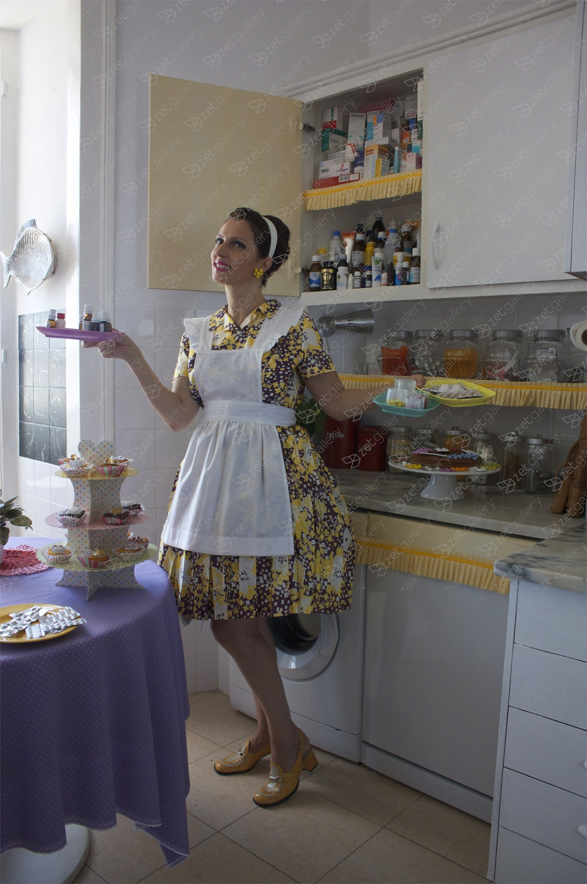 The perfect housewife, original Avant-Garde Digital Photography by Claudia Clemente