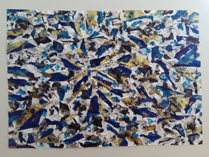 Sem título, original Avant-Garde Mixed Technique Painting by Ney      MeyPey