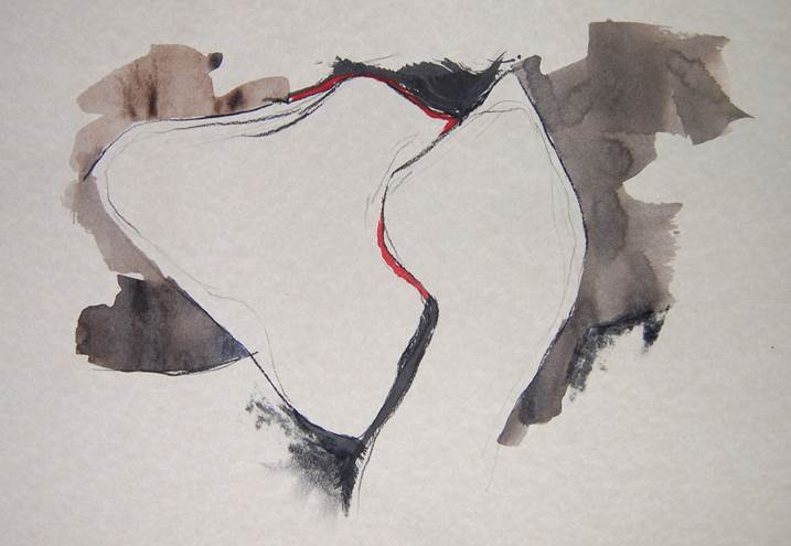perfume_3, original Abstract Ink Painting by Paulo Canilhas
