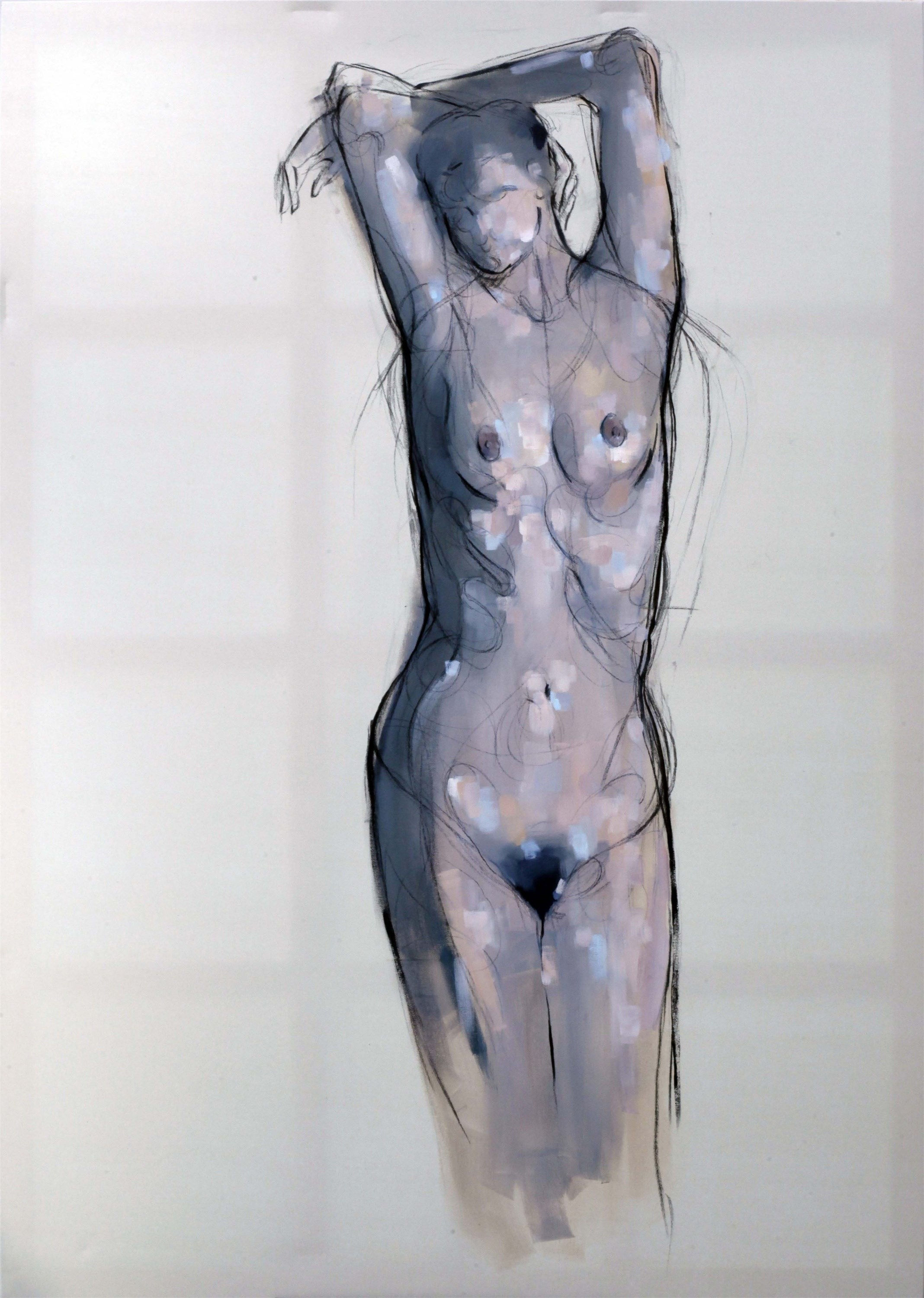 Untitled, original Body Canvas Painting by Giorgos Kapsalakis