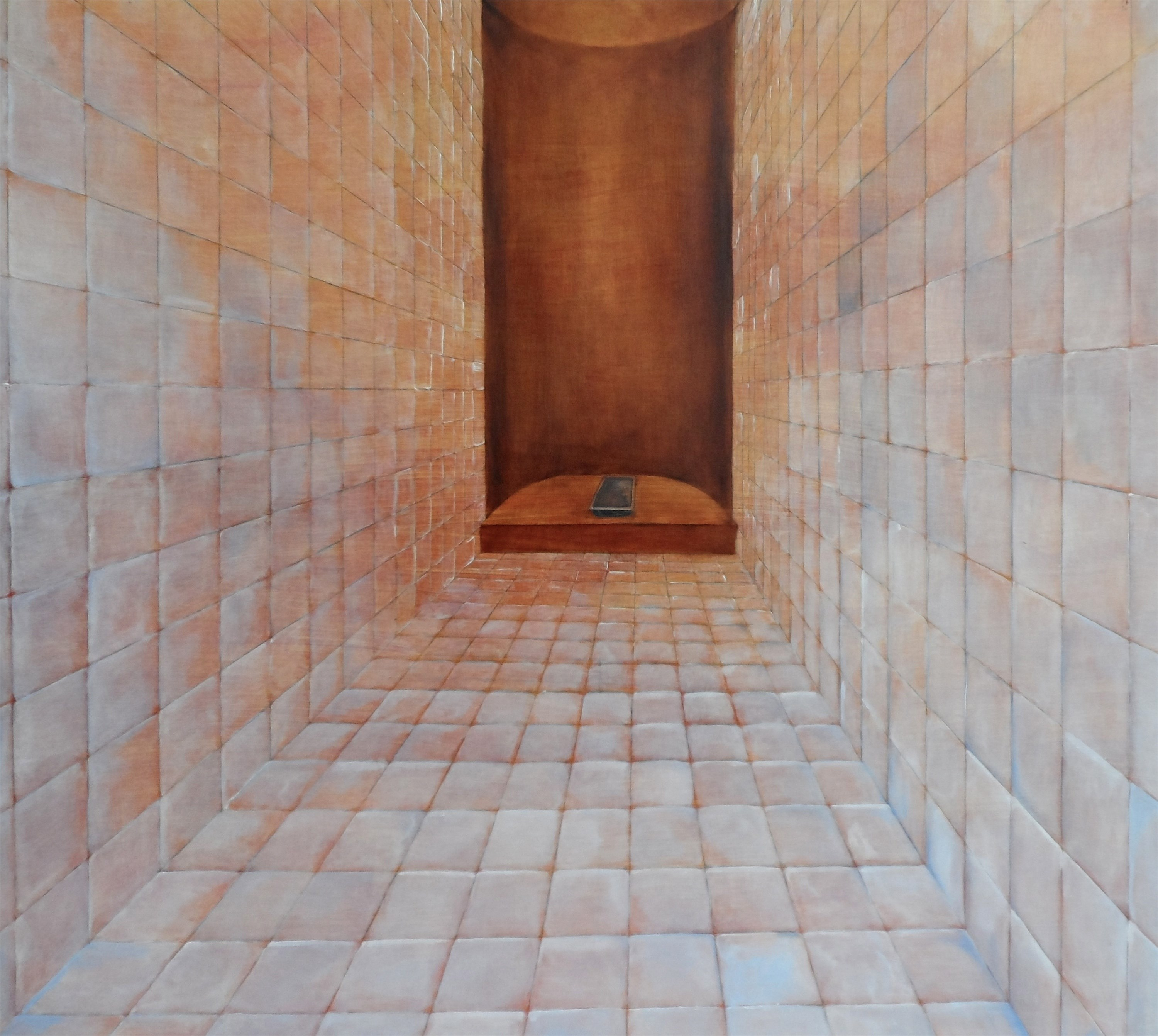 Sem corpo sem órgãos, original Geometric Oil Painting by Francisca  Sousa