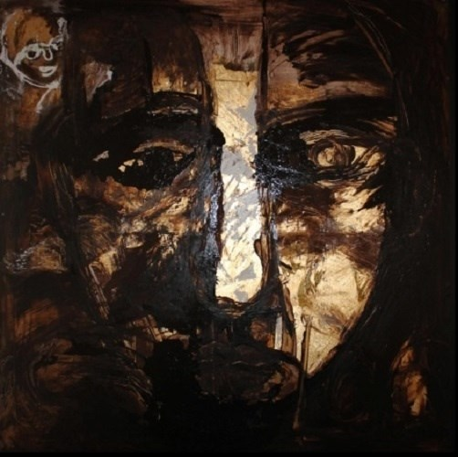 Portrait, original  Mixed Technique Painting by Helena de Medeiros