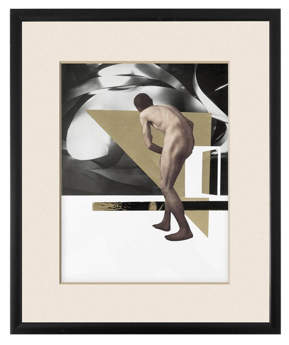 """He walks in ruins"", original Abstract Collage Drawing and Illustration by Nuno Moreira"