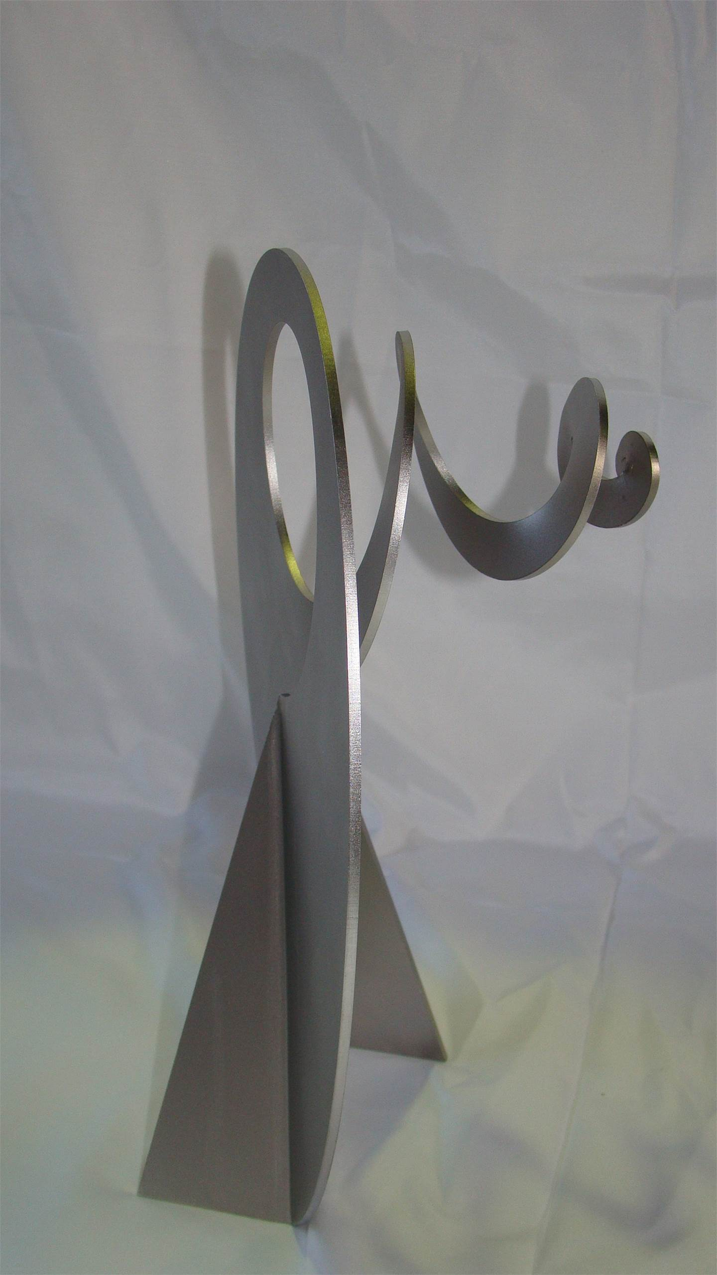 Carrapicho ó vento mareiro, original Abstract Metal Sculpture by Juan Coruxo