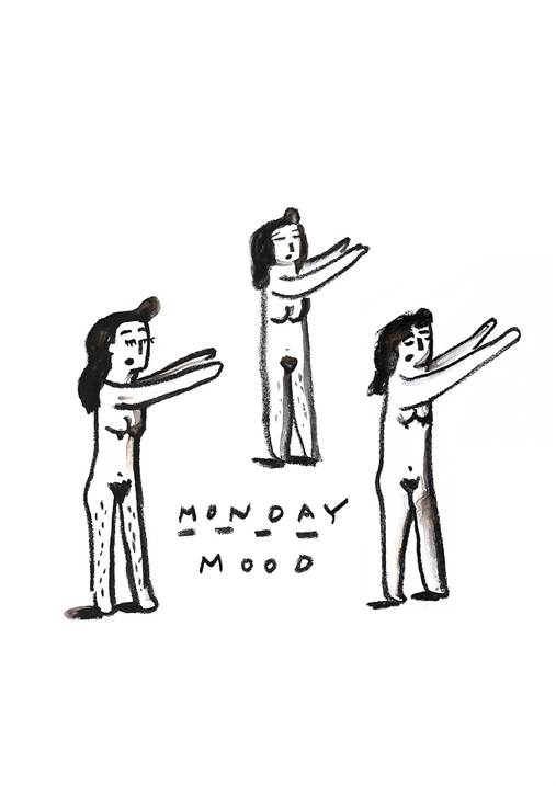 Monday Mood, original Body Digital Drawing and Illustration by Shut Up  Claudia
