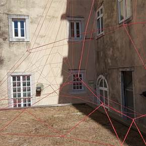 A Home Made by Drawing, original Geometric Tissue Sculpture by Lorenzo Bordonaro