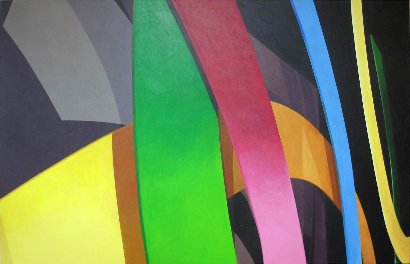 Ábside III, original Geometric Acrylic Painting by Acácio de Carvalho