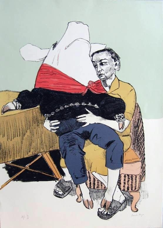 Galanteio do Principe Porco, original  Silkscreen Drawing and Illustration by Paula Rego