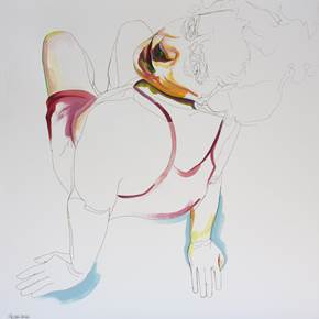 Exercício #2, original Body Acrylic Drawing and Illustration by Cristina  Troufa