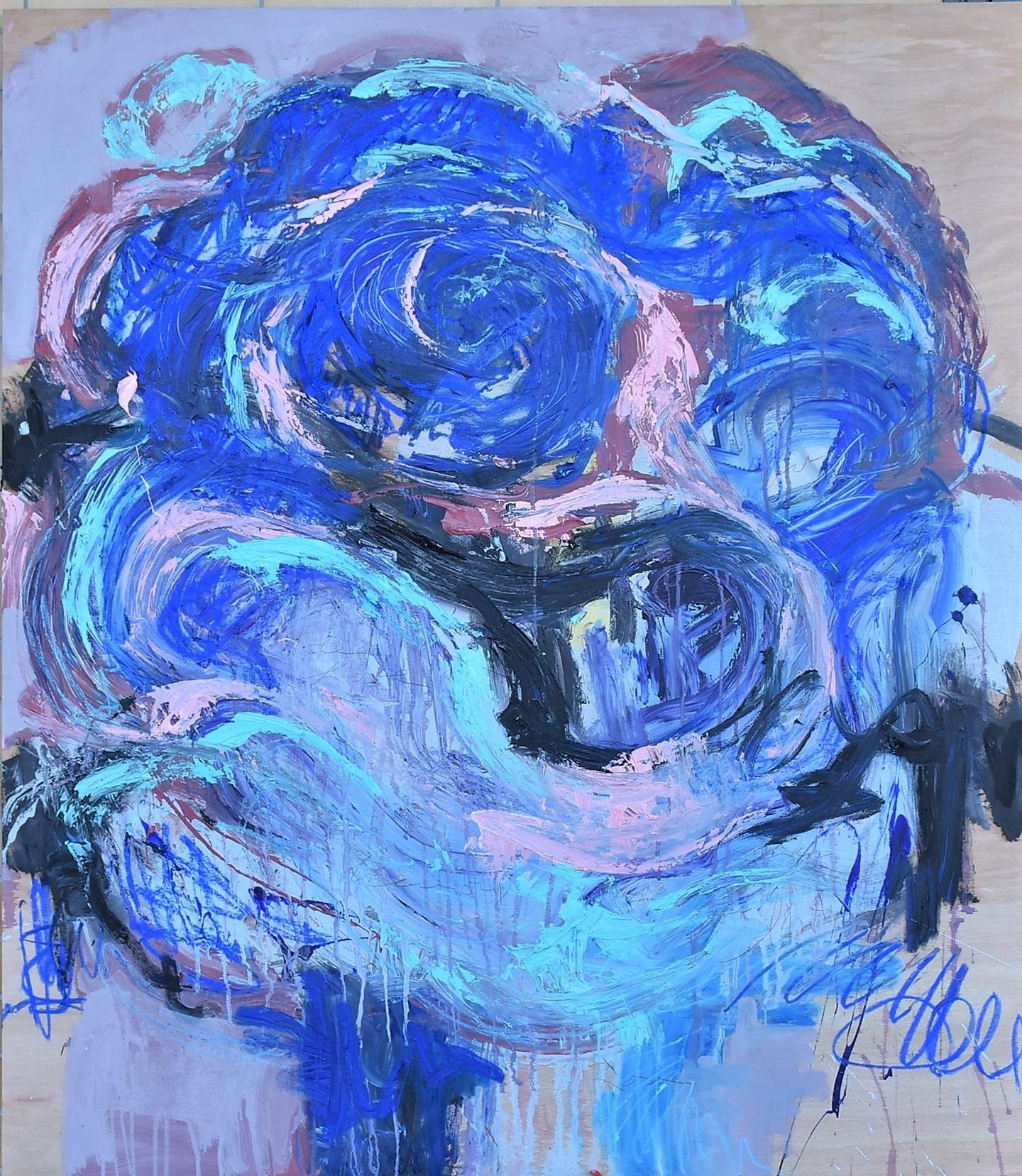 The Rose # II, original   Painting by ELISA  COSTA