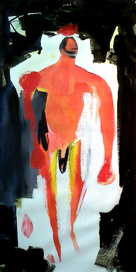 Light Entrance, original Human Figure Acrylic Painting by Toze Figueiredo