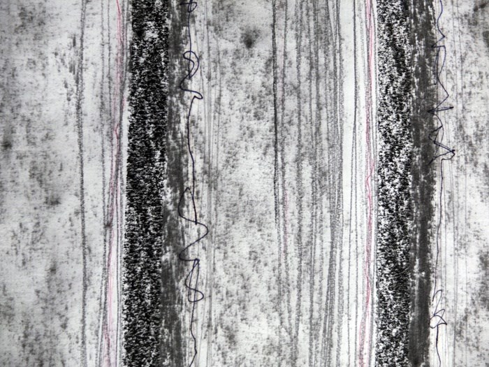 Evan Parker – Drawn Inward III, original Abstract Charcoal Drawing and Illustration by Mariana Alves