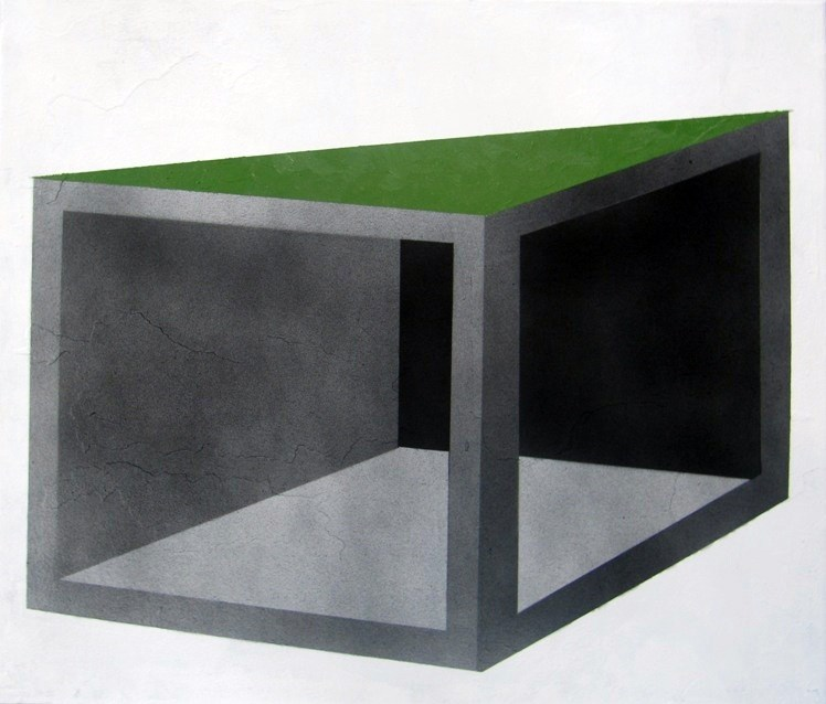 (De)construction again/ wall painting Ref. g711 , original Geometric 0 Painting by Miguelangelo Veiga