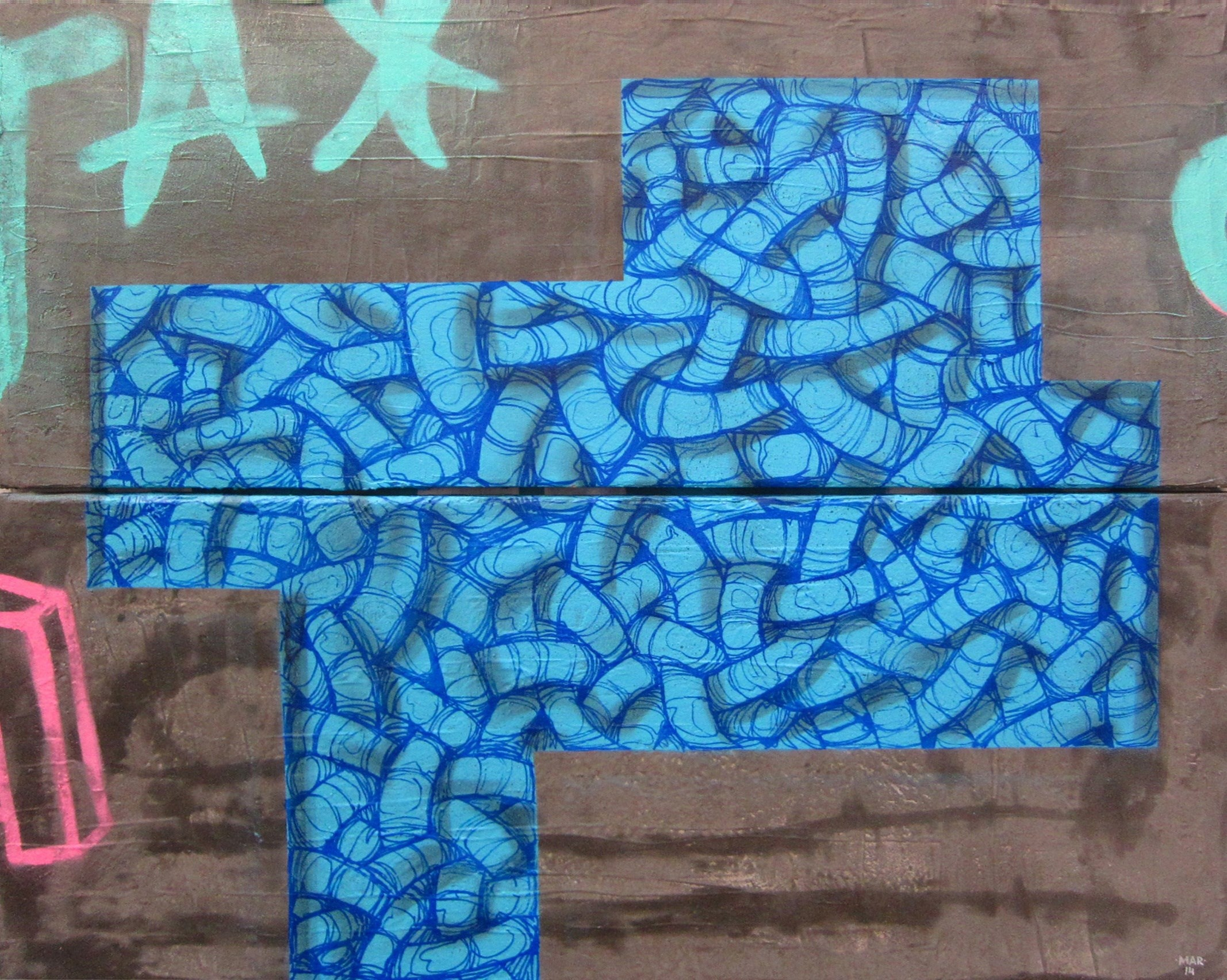 Alma azul, original Abstract Canvas Painting by Gonçalo MAR