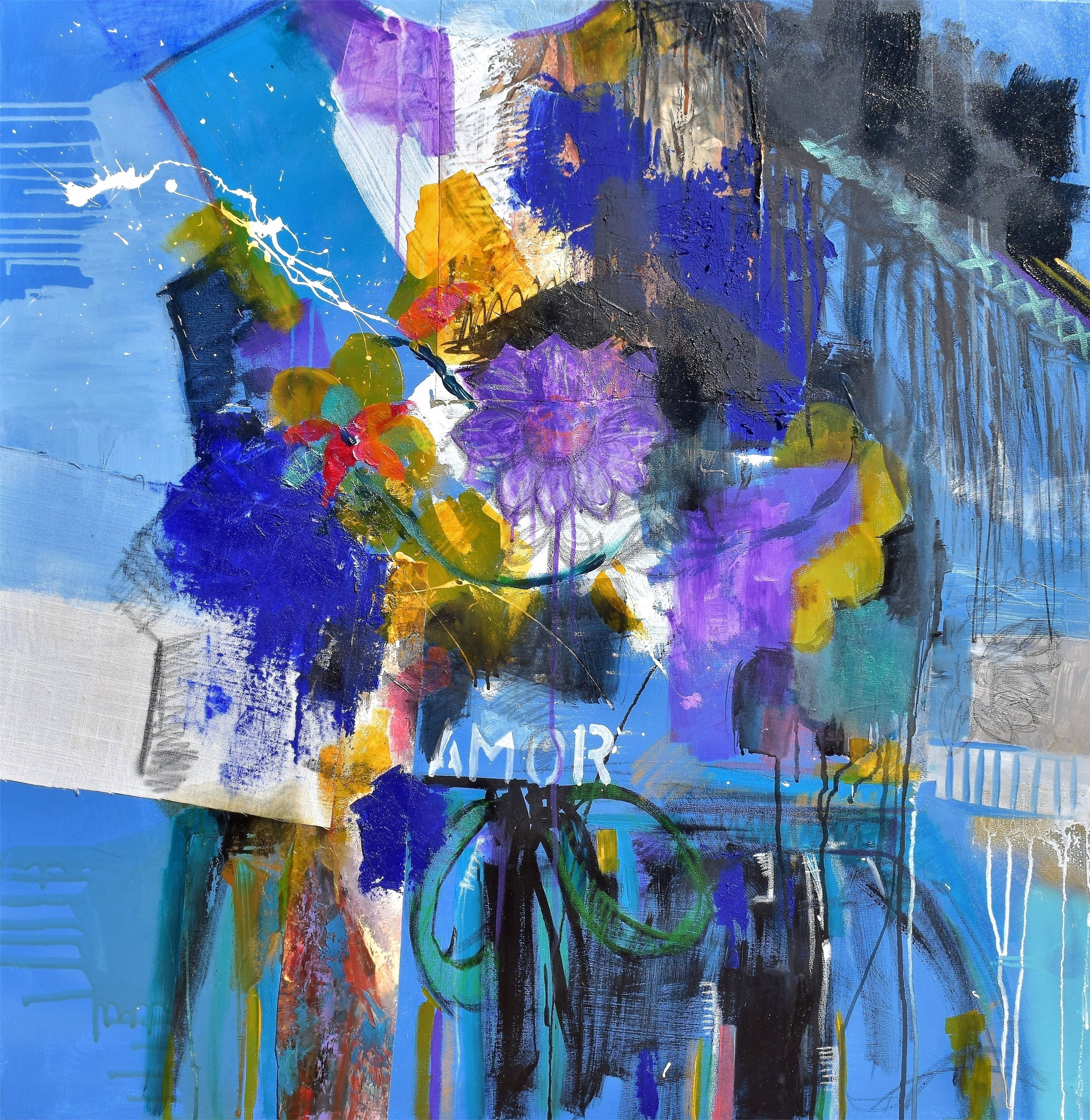 RETURN TO THE ESSENCE III, Pintura Acrílico Abstrato original por ELISA  COSTA