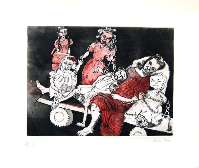 As Meninas Noivas 2, original  Lithography Drawing and Illustration by Paula Rego