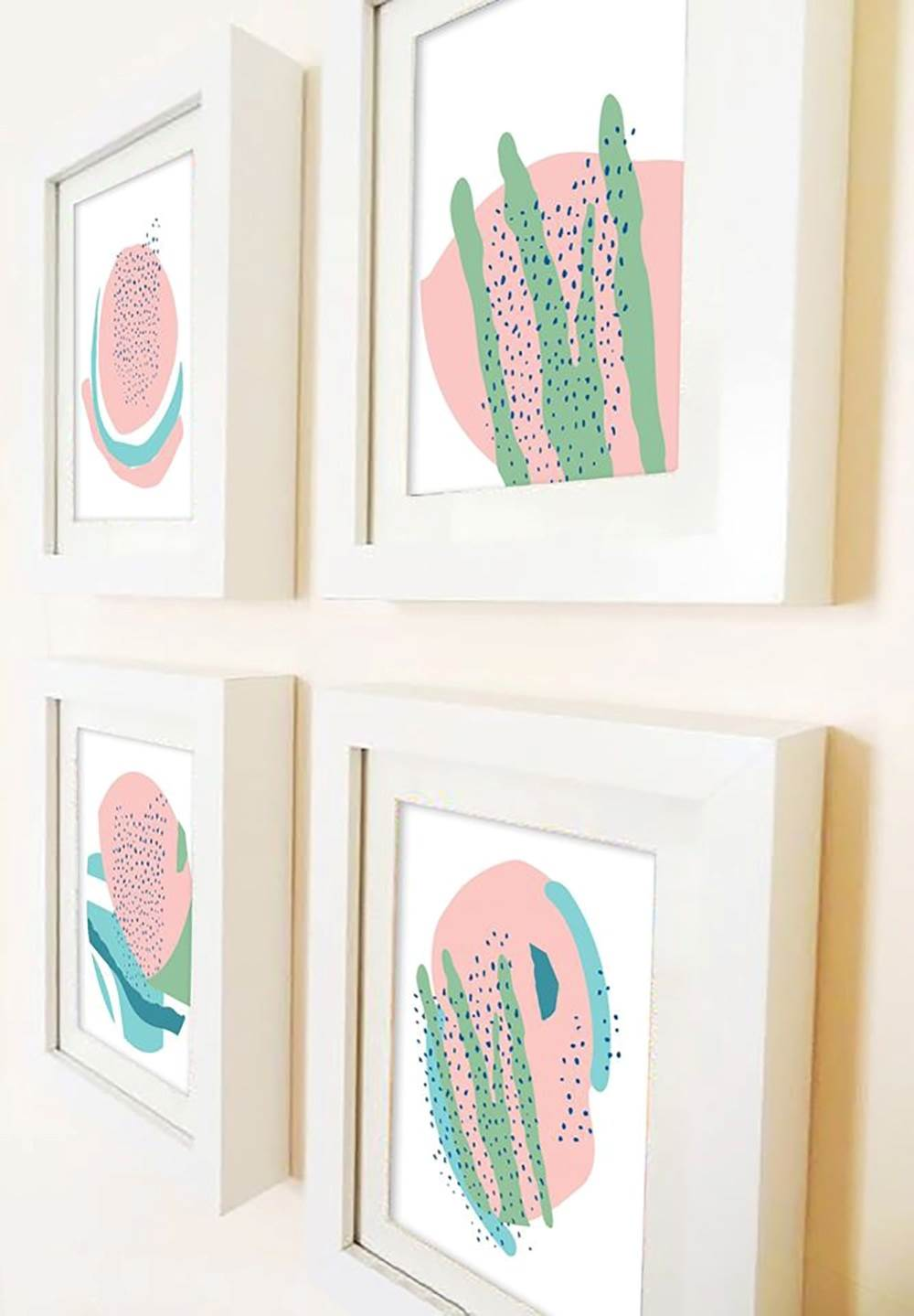 Coleção Cactus, original Abstract Paper Drawing and Illustration by Maria João Faustino
