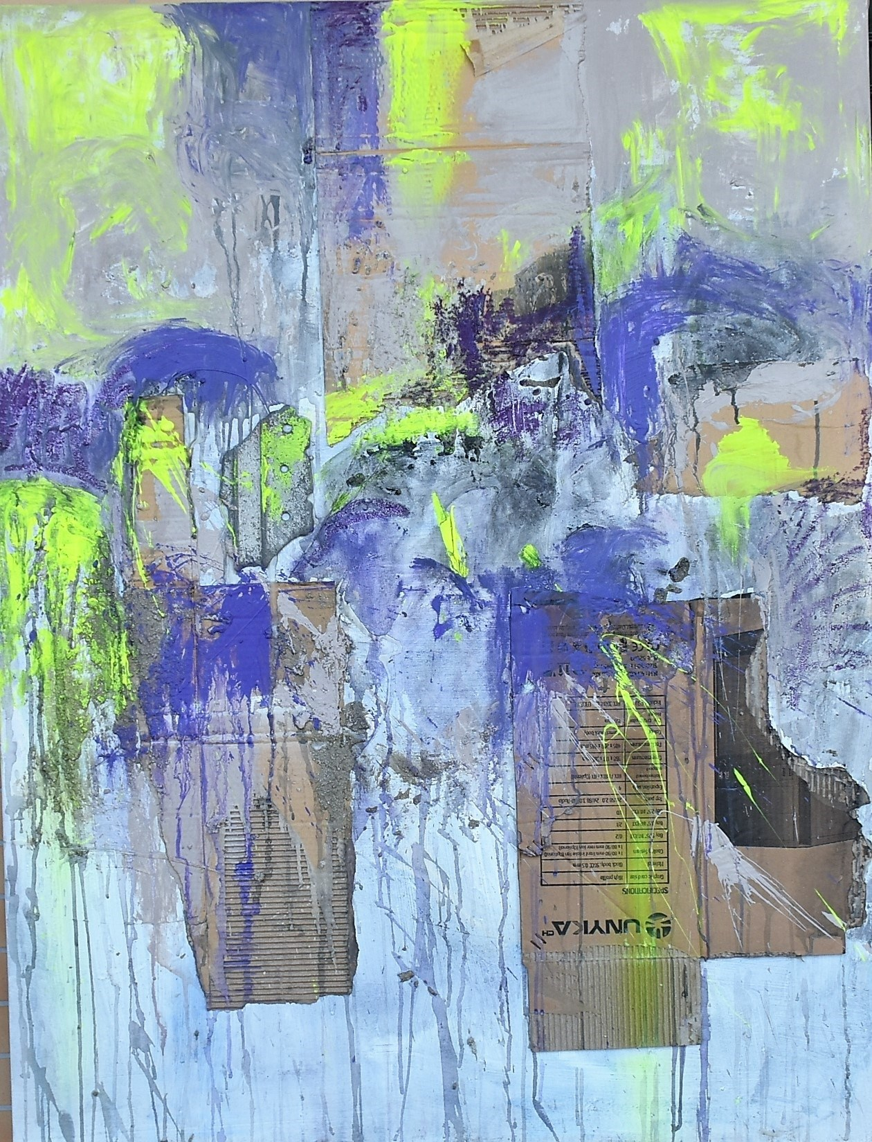 The Meaning of, Pintura Técnica Mista Abstrato original por ELISA  COSTA