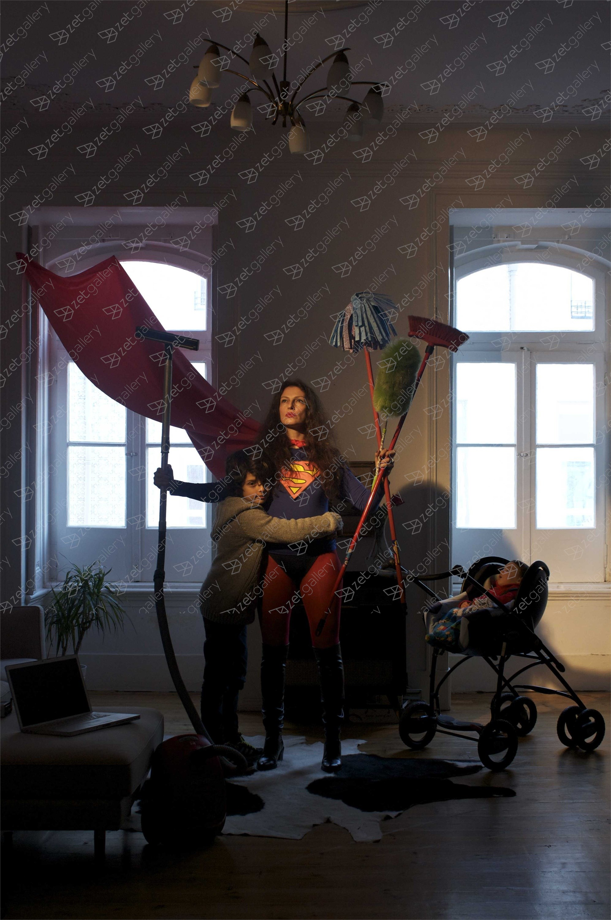 Supermom, original Human Figure Digital Photography by Claudia Clemente