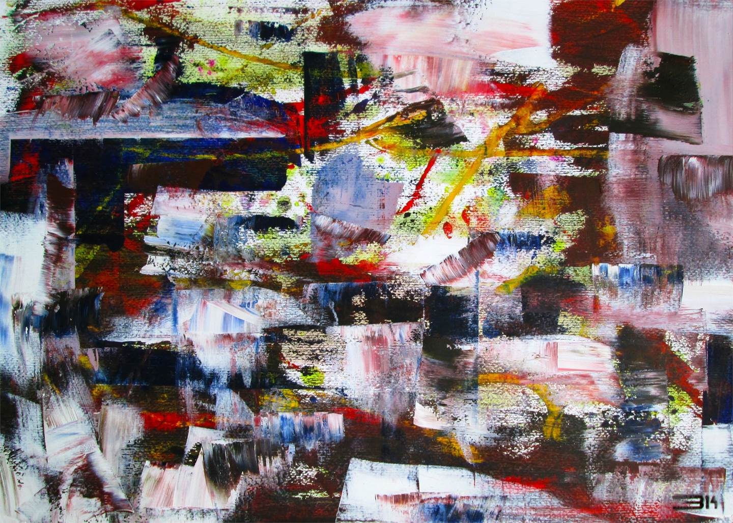 Untitled, original Abstract Acrylic Painting by Eduardo Bessa