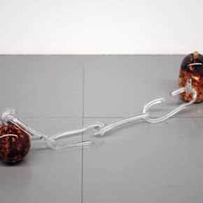 Geração Arrasta, original Abstract Glass Sculpture by Ana Almeida Pinto