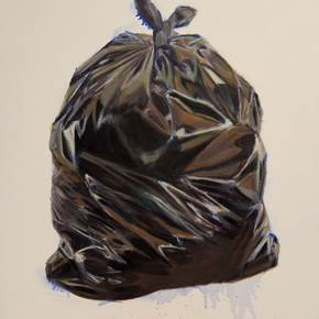 Trash, original Still Life Canvas Painting by Alma Seroussi