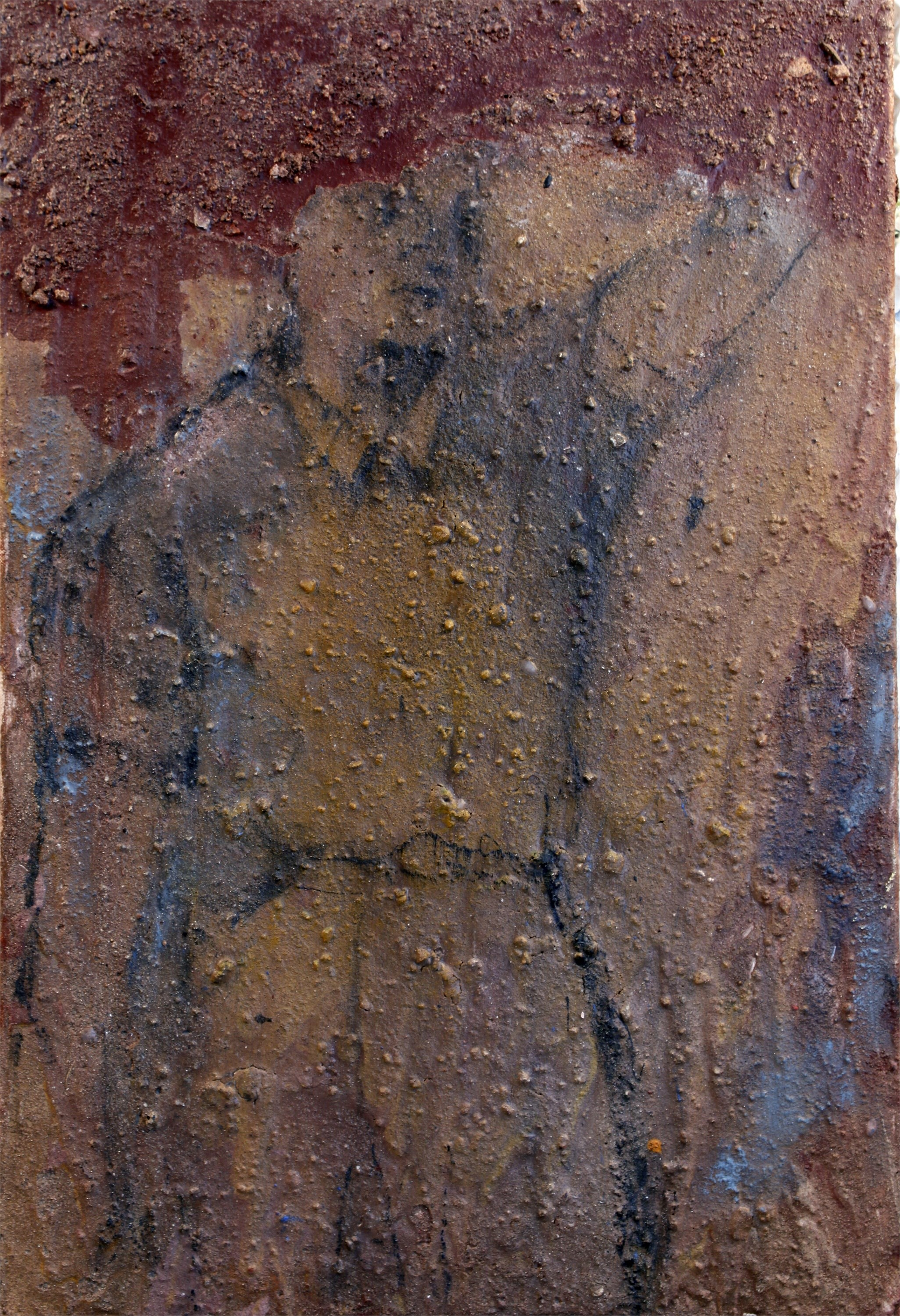 Sem título, original Body Mixed Technique Painting by Alexandre Rola