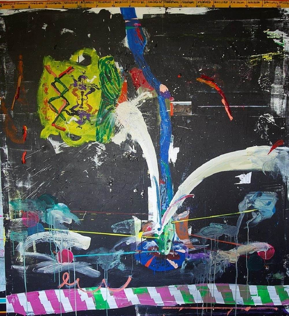 Untitled, original Abstract Mixed Technique Painting by Ilídio Candja Candja