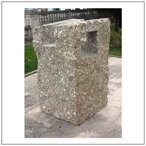 Searching for the lost Simplicity, original Big Granite Sculpture by Volker Schnüttgen